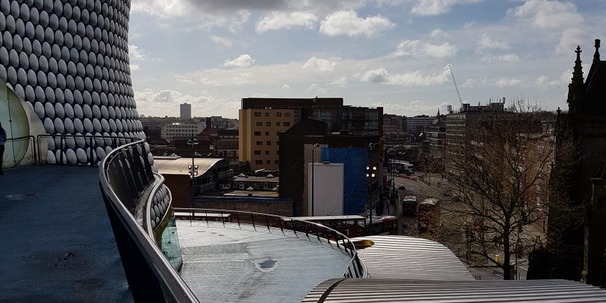 Looking at Digbeth from the Bull Ring